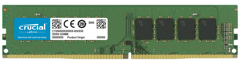 Un módulo de memoria RAM Crucial DDR4 UDIMM