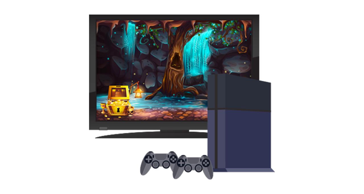 Consola de juegos y monitor de TV