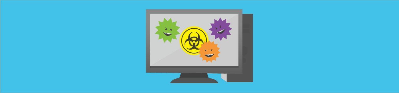 Unos virus informáticos atacan a un ordenador de sobremesa.